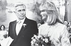 """A TV 'Dynasty' was born in 1981 Actors John Forsythe and Linda Evans starred as the about-to-be-married Blake Carrington and Krystle Jennings in a three-hour television movie that aired January 12, 1981, and served as the kickoff to ABC's prime-time soap opera """"Dynasty."""" The program went on to be a ratings champion before falling all the way to 57th place before it was dumped at the end of the 1988-89 season. Evans, now 74, first gained TV fame when she played Audra Barkley on the western The Big Valley, which aired on ABC from September 1965 to May 1969. (AP Photo)"""