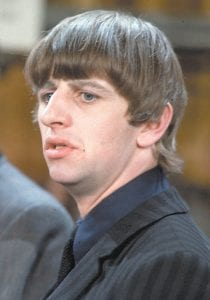 """WITH THE BEATLES — This is a February 9, 1964 photo of Ringo Starr made backstage at the """"Ed Sullivan Show"""" in New York. Starr is a member of the British rock band The Beatles, whose debut appearance on the CBS variety show that night helped them become the most famous rock band in world history. (AP Photo)"""