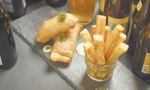 Fish and chips with tempura batter. (AP Photo)