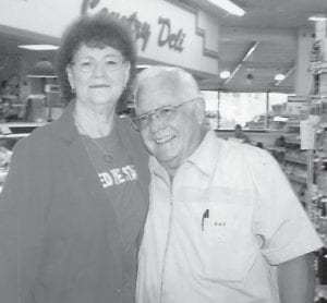"""Wanda Hatton and Ealice Ray """"Elzie"""" Hatton visited the IGA Store at Isom in 2013."""