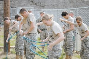 Teams from the Letcher County Central JROTC competed against JROTC groups from 12 other schools on March 25. (Photos by Damaris Sexton)