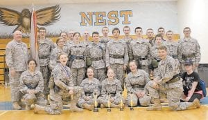 The Letcher County Central JROTC brought home four trophies from a competition held March 25. The LCCHS JROTC won One Rope Bridge, Litter Carry, Cadet Challenge and top Female Physical Fitness award from the Cadet Challenge.