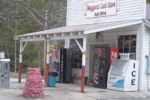 "Maggard's Cash Store at Eolia. In the ""Baloney scene"" of Coal Miner's Daughter, the name J.D. Maggard's Store can be seen on the windows of the store."