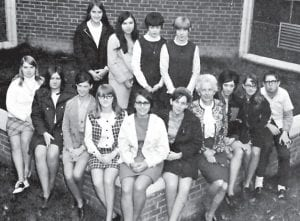 The 1970 Bible Club was composed of students at Whitesburg High School.