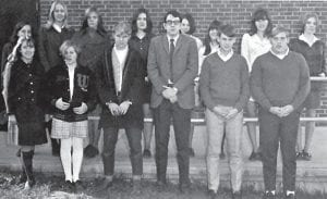 The Whitesburg High School Speech Club posed for a photograph in 1970.