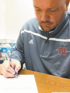 Matthew Taylor at work at Nicholls State University in Louisiana.