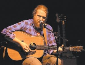 Rising star Tyler Childers of Lawrence County, Kentucky brought his brand of rocking country and Americana music to Whitesburg Saturday night for a sold-out show at Appalshop Theater. More than a few who attended the show could be heard saying it was the best concert of its kind they had seen in Whitesburg, and will eagerly await a return performance. (Photo by Thomas Biggs)
