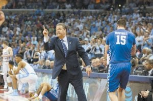 """""""One and Not Done"""" director Jonathan Hock wanted his ESPN documentary on John Calipari to show that the coach thrived on friction, and it did. (Photo by Vicky Graff )"""