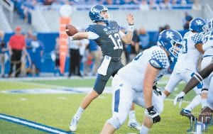 Gunnar Hoak threw for four touchdowns in the Blue-White Game. (Jeff Houchin Photo)