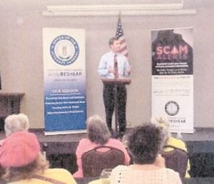 — Kentucky Attorney General Andy Beshear presented a fraud prevention program on April 13 at the Letcher County Extension Office. In it, he gave examples of the most recently reported frauds targeting seniors, how schemes work, why we fall for them and how we can avoid them. The program also provided an explanation of why we willingly participate in scams and how we use defense mechanism when faced with offers that sound too good to be true.