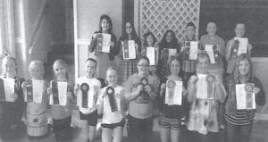 These West Whitesburg Elementary School students are pictured with ribbons they won at the 4-H Communications District Contest.