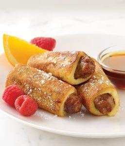 Cinnamon French Toast Sausage Roll-Ups