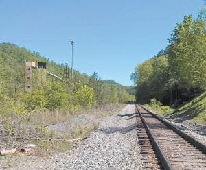 This old South-East Coal Company tipple located beside tracks owned by the L&N Railroad at Isom was once among the top movers of coal in Letcher County, where more than 605 million tons of coal have been mined since 1900. (Photo by Sam Adams)