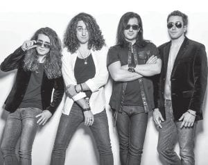Station, whose self-titled debut album is full of riffs and solos that harken back to 80's-style arena rock, has opened for acts ranging from Pat Benatar to Jake E. Lee and .38 Special.