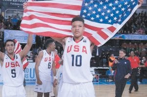 Kevin Knox surprised recruiting analysts by picking Kentucky to give John Calipari five five-star recruits this year. (USA Basketball Photo)