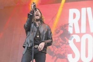 TO PERFORM MAY 23 — Rival Sons lead singer Jay Buchanan is photographed performing with his band at the Tons Of Rock Festival in Norway last June. Rival Sons will perform in concert next Tuesday (May 23) at The Forum at Hal Rogers Center in Hazard. Tickets, $30, are available by calling 1-606-434-8648. (Rex Features via AP Images)