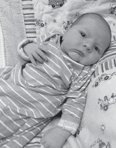 — Matthew and Misty Dawn Moore of Langley, are parents of Maddox Bentley Moore, born at Pikeville Medical Center May 6, weighing 8 pounds and .43 ounces and measuring 20 inches long. His maternal grandparents are David and Lillie Bentley of Seco, and paternal grandparents are Rodney and Joy Moore of Garret.
