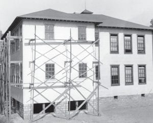 Changes George H. Goodman took these photos of the McRoberts School (above) and Jenkins School (right) sometime between 1934 and 1942 when Goodman was director of the Works Progress Administration (WPA) in Kentucky. The WPA, a federal employment project started as part of President Franklin D. Roosevelt's New Deal, was responsible for building a new school building in nearly every community in the United States, including these additions to the buildings in McRoberts and Jenkins. This week in 1947, the Jenkins Board of Education was busy making changes in the school system, as the board voted unanimously to close the McRoberts school to high school students and start busing them to Jenkins. (Photos courtesy Goodman Paxton Photographic Collection, University of Kentucky Digital Library)
