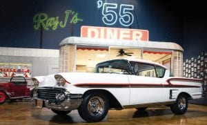 "Legendary NASCAR crew chief Ray Evernham now owns this 1958 Chevrolet Impala featured in the film ""American Graffiti."" It will be on display in Louisville in August."