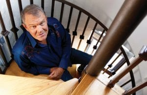 "Glen Campbell posed for this portrait in July 2011. Recorded before Alzheimer's disease took his singing voice, Campbell's last album ""Adios"" was therapeutic for the legendary performer. (AP Photo)"