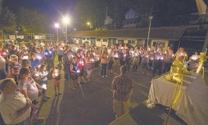 Jenkins area residents held candles and flags in support of missing U.S. Army soldier, and Jenkins native SSgt Abigail Milam and her four other missing crew members.