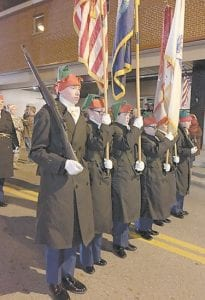 — On December 8, the Letcher County Central JROTC marched in the Whitesburg Christmas Parade. The color guard, two armed duels, and an unarmed drill team performed throughout the parade. The many people watching the parade applauded the JROTC.