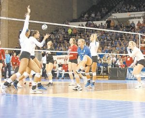 Kentucky's volleyball season ended with an Elite Eight loss to Nebraska, but coach Craig Skinner and the seniors hope 29 wins and an SEC championship have helped lay the foundation for a program that can compete for national championships. (Vicky Graff Photo)
