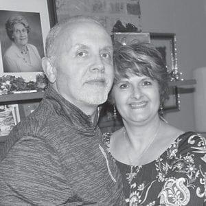 The photo of Rick and Charlene Tacket Mason was taken December 24, 2016.