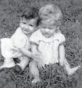 These babies are Lucille Tacket Graves and her first cousin Teresa Noble Pease.