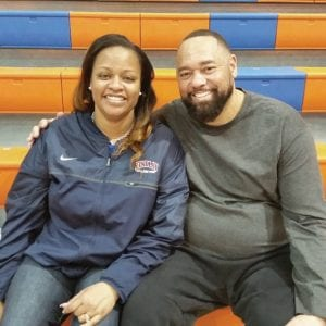 Sherry Washington, pictured with husband Paul, monitors social media but knows no matter what she sees about her son, P.J. Washington, she can't respond. (Larry Vaught Photo)