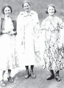 Pictured are Norma Hughes, Caldonia Reynolds Page, and Ida Hatton.