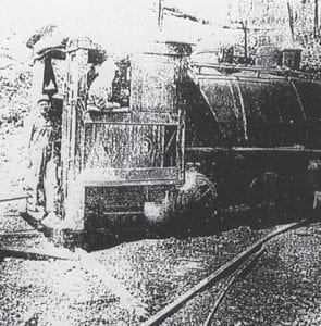The dinky at Marlowe Coal Company was enjoyed by the children at the coal camp.