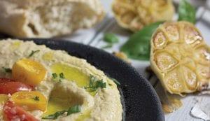 Bruschetta-Topped Hummus