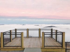 WINTER'S BEAUTY — The view from atop Pine Mountain near Whitesburg is never the same, depending on the weather and the season. This awe-inspiring shot was taken early one morning last week at a new scenic overlook built by the Letcher County Tourism Commission. (Photo by Patricia Collins Bentley)