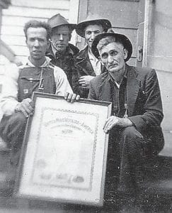 Pictured are Dewey Brown, Willie King, Russell Howard, and Henry Calvin Pennington.