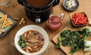 Asian Hot-Pot Broth with Tangy Chili Sauce