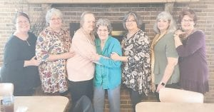 Pictured are Belinda Clayton, me (Jeanette Tacket Yonts), Gertrude Gilbert, Dorothy Tacket, Delores Holbrook, Lucille Graves, and Charlene Mason.
