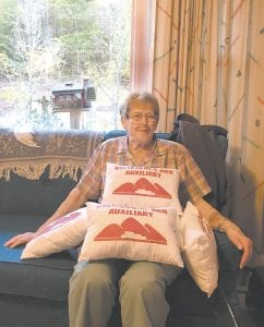 Depsite suffering a long illness, Shirley Breeding never stopped making pillows for surgical patients at the Whitesburg ARH hospital.