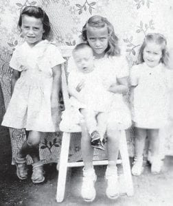 Pictured are Opal Necessary Haynes, Mildred Necessary Spence, Janice Necessary Morris, and Bobby Necessary.