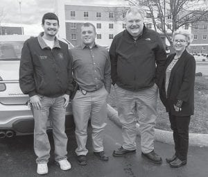 Attending a seminar and continuing education program in Louisville recently were (left to right) Deputy Letcher County Coroner Derek Meade, Kentucky State Police Detective Scott Caudill, Letcher County Commonwealth Attorney Edison G. Banks, II, and Letcher County Coroner Renee Campbell.