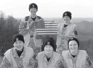 """The Letcher County Central High School JROTC volunteered to help the Letcher County Tourism at their """"Gazing at the Stars"""" night on Pine Mountain on March 24. The cadets helped set up, directed traffic and ran shuttle buses from the parking area to the event area. Kody King, Hannah Caudill, Molly Collins, Emily Collier and Isaiah McCall were the cadets who helped."""
