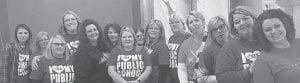 Principal Wendy Madden Rutherford and others from Letcher Elementary School are pictured in Frankfort.