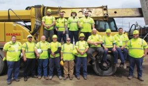 Charged with taking care of all state-maintained roadways in Letcher County are Billy Smallwood, superintendent; Brandon Tolliver, assistant superintendent; and crew members (not in order; includes names of those absent for photo) Wayne Austin, Phil Bentley, Jason Bolling, Daniel Caudill, Larry Easterling, Ryan Fugate, Tony Fugate, Heath Holbrook, Lonnie Lewis, Scott Lewis, David Maggard, Matthew Maggard, Bobby Stines, Sid Tolen, and Travis Yonts. District 12 Work Zone Safety Coordinator Jimmy Queen reminds motorists to be on the lookout for the employees and help them stay safe in work zones this spring and summer.