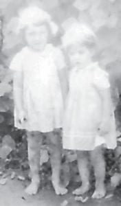 Imogene Howard Adkins is pictured with Roberta Brown.