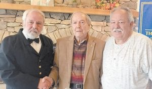 Left to right are David Chaltas, Jack Burkich and Darrell Holbrook.