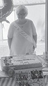 Ollie Profitt celebrates her 80th birthday at Fishpond Lake.