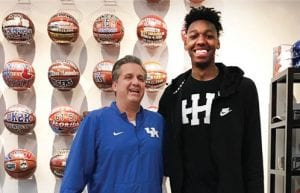 University of Kentucky head basketball coach John Calipari made it clear last week that James Wiseman remains his No. 1 recruiting target. Wiseman is also being heavily recruited by Memphis.