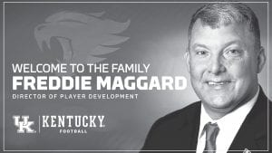 Many believe adding Freddie Maggard to the UK football staff could help recruiting. (UK Graphic)