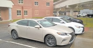 TOYOTA MOTOR COMPANY DONATED these three cars to the Letcher County Area Technology Center.