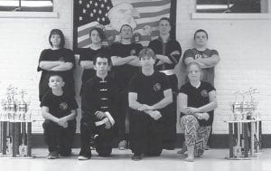 John Ng's Four Seasons Martial Arts competition team will participate in the Kentucky State Championship Open Martial Arts Tournament in Richmond on May 5, and several more tournaments throughout the year. Frank Sexton invites all martial artists to compete against the state's best. Pictured are (left to right, back row) Rebecca Sexton, Caleb Short, Aaron Blevins, Kevin Brown, Chris Brock, (front row) Mazel Blevins, Bobby Briggs, Frank Sexton and Brenda Blevins.